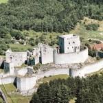Letecký pohled na hrad Rabí
