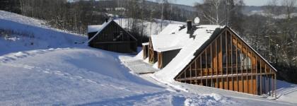 Zimní dovolená na chalupě na Šumavě